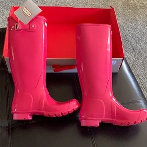 New Hunter Tall Pink Boots size 7